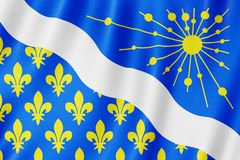 Flag of Essonne, France. 3d illustration of Essonne flag waving royalty free stock photo