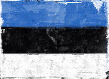 Flag of Estonia Stock Photography