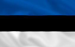 Flag of Estonia Stock Images