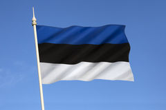 Flag of Estonia - Baltic States Royalty Free Stock Photo