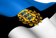 Flag of Estonia Royalty Free Stock Photography