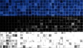 Flag of Estonia old retro effect background Royalty Free Stock Image