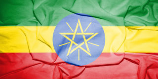 Flag_of_Ethiopia 库存例证