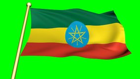 Flag of Ethiopia, Africa