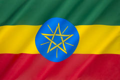 Flag of Ethiopia. Federal Democratic Republic of Ethiopia - The current national flag and emblem were adopted after the defeat of Ethiopias Marxist Derg regime ( Royalty Free Stock Photo