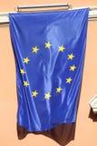 Flag of EU. (European Union) in Rome, Italy Royalty Free Stock Photos