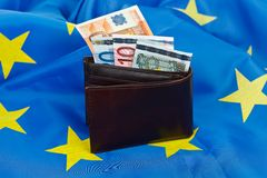 Flag and euro Stock Images