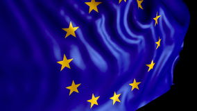 Flag of Europe stock footage