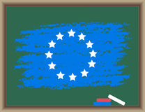 Flag of Europe on a blackboard Royalty Free Stock Images