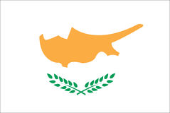 Flag of Europe country Cyprus. Vector illustration Royalty Free Stock Photography