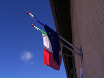 Flag europe Italy. Two flags representing the Europe and Italy Royalty Free Stock Photography