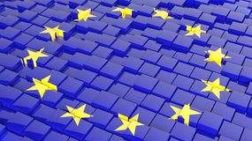 Flag of Europe Unio Royalty Free Stock Image