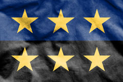 Flag of European Coal and Steel Community. Royalty Free Stock Photo