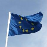 Flag of European Union. Over a blue sky Stock Photography