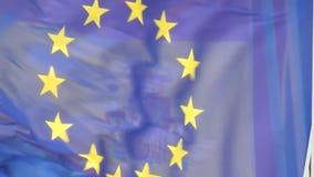 Flag of european union stock video