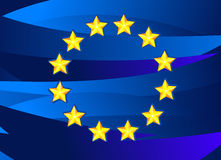 Flag of European Union. Vector Illustration. No Meshes Stock Image