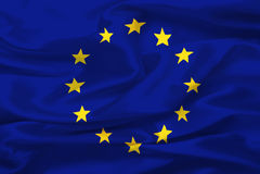 Flag of European Union. (United States of Europe) - digital illustration royalty free illustration