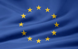 Flag of the European Union. A very large version of an european union flag Royalty Free Stock Images