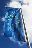 Flag of the European Union against the sky Royalty Free Stock Photo
