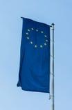 Flag of European Union on blue sky sign of Europe Stock Photo