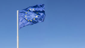 Flag of the european union, closeup shot Royalty Free Stock Photography