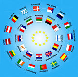28 flag of european union country Stock Photo