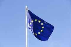Flag of European Union on a flagpole Stock Images