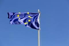 Flag of European Union on a flagpole Stock Photos