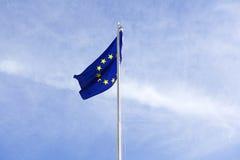 Flag of European Union on a flagpole Royalty Free Stock Photo