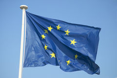 The flag of the European Union flying in France Royalty Free Stock Image