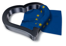 Flag of the european union and heart Stock Photography