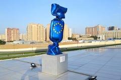Flag of the European Union. In Heydar Aliyev Center, in Baku Stock Images