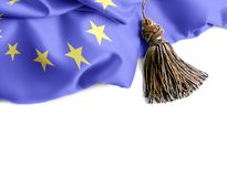 Flag of European Union. Nationals flags of world country turning royalty free stock photography