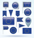 Flag of European union, vector illustration Stock Photo