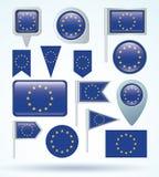 Flag of European union, vector illustration Stock Photo
