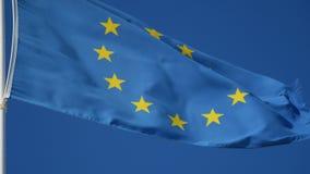 Flag of european union waving closeup. Flag of european union waving close up stock video footage