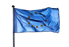 Flag of  European Union on the white background Stock Photo