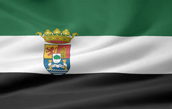 Flag of Extremadura - Spain Stock Photography