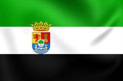 Flag of Extremadura, Spain. Stock Photos