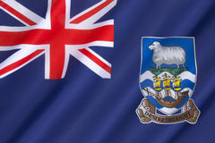 Flag of the Falkland Islands. Adopted on 25th January 1999 Stock Photos