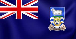 Flag of Falkland Islands Stock Photo