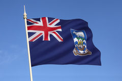 Flag of The Falkland Islands (Islas Malvinas) Stock Image