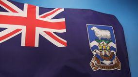 Flag of The Falkland Islands (Islas Malvinas) stock video