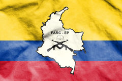Flag of FARC-EP. 3d Rendered Flag of FARC-EP Stock Photos