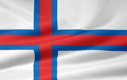 Flag of Faroe stock photo