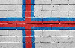 Flag of the Faroe Islands on brick wall Royalty Free Stock Photography