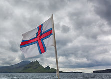 Flag, Faroe islands. Royalty Free Stock Photography