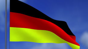 Flag of the Federal Republic of Germany stock video