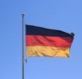 Flag of Federal Republic of Germany on blue sky Stock Images