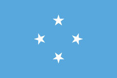 Flag of Federated States of Micronesia Stock Photography
